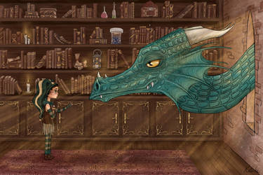 The dragon and the little girl by Claudie-G