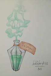 Inktober 2018 #01 Poisonous  by Claudie-G