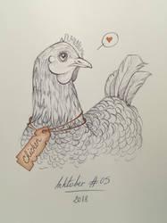 Inktober 2018 #05 Chicken by Claudie-G