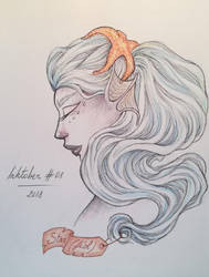 Inktober 2018 #08 Star by Claudie-G