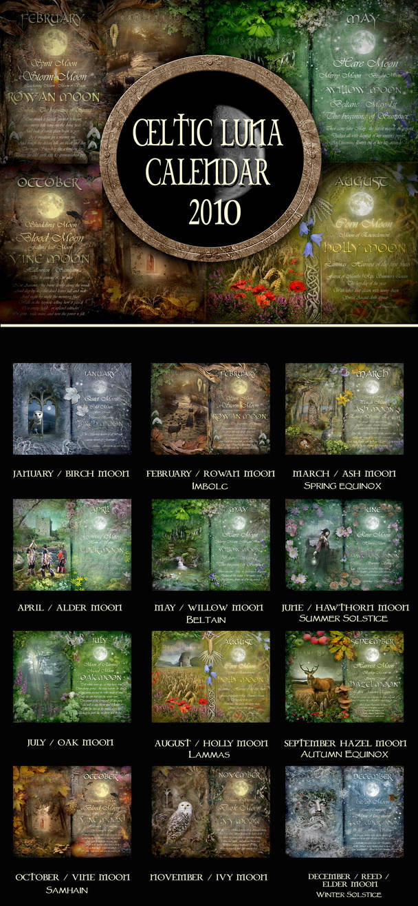 Celtic Luna Calendar For 2010 By Arwensgrace On Deviantart