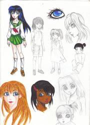 Sketches: ocs and some kagome by Kagome-Miko-207