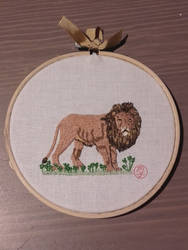 Lion embroidery by Tsukinin