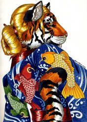 Koi Kimono by SandySchreiber