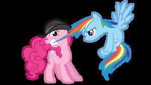 Pinkie Pie and Rainbow Dash by AB-Anarchy