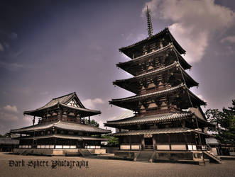 The oldest wooden building in the world. Horyu-ji. by jasonthe5150