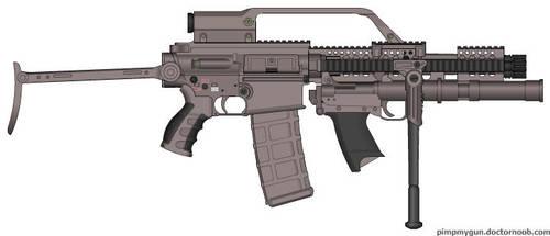 22 LR Microgun mk. 3 Grenadier Version by Psyk0-W01f