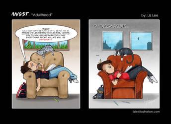 Angst - Adulthood by lizleeillustration