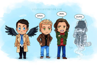 Supernatural doodles by lizleeillustration