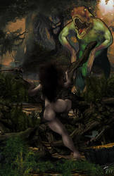 Maya the Jungle Girl and the Swamp Horror! by StudioAkumakaze