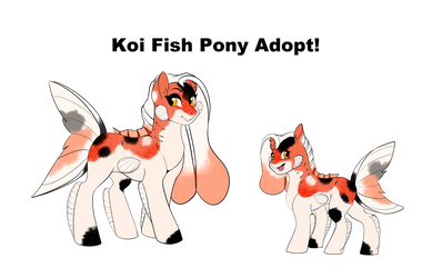 Koi Fish Pony Adoptable (SOLD) by TheEcchiQueen