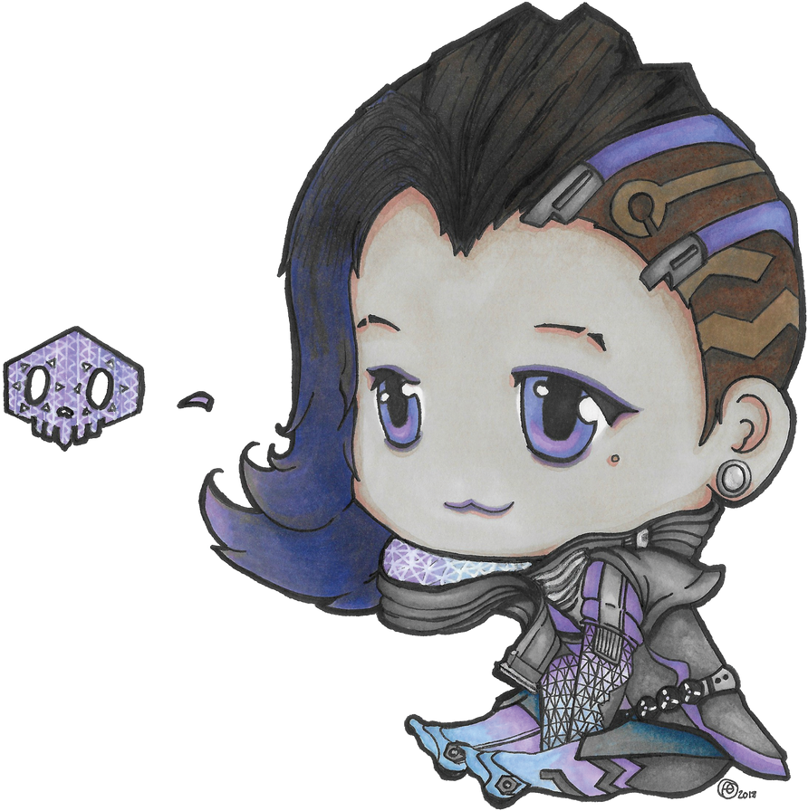 Overwatch - Chibi Sombra by valaMS