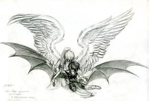 Angel and Demon by MamonnA