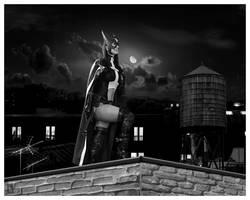 Huntress Rooftop by NerdySiren
