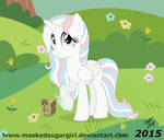 MLP FIM - Sapphire and Buttons the flying squirrel by MaskedSugarGirl