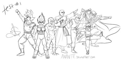 DBS - Universe 7 WIP test #1 by Anante