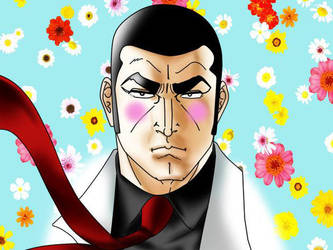Golgo 13 with Pink Cheeks by santirevecolepe