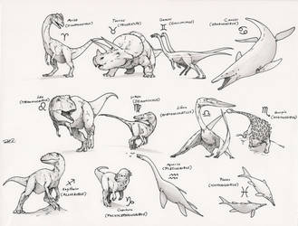 The Paleozodiac by RobtheDoodler