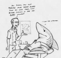 Land Shark Dentist Appointment by RobtheDoodler