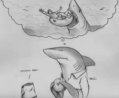 Shark Week Fantasies by RobtheDoodler