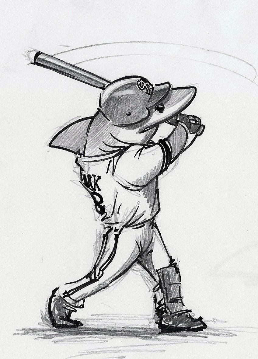 Baseball Shark by RobtheDoodler