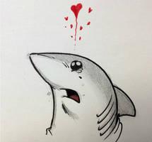 Land Shark LEGO NERD LOVE by RobtheDoodler