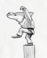 Karate Shark by RobtheDoodler