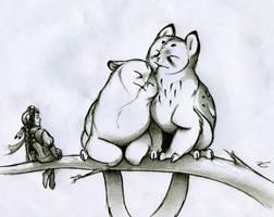 Springtime for Owl Griffins by RobtheDoodler