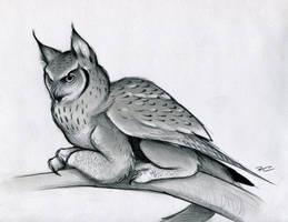 Eagle Owl Griffin by RobtheDoodler
