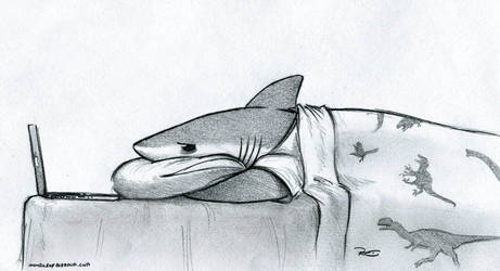 Flu Shark by RobtheDoodler