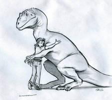 Hugasaurus by RobtheDoodler
