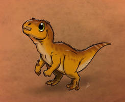 Tiny Iguanodon by RobtheDoodler