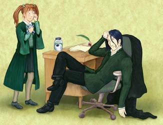 Head of House: Professor Snape by didodikali