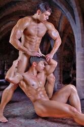 2 Nude Guys by builtbytallsteve