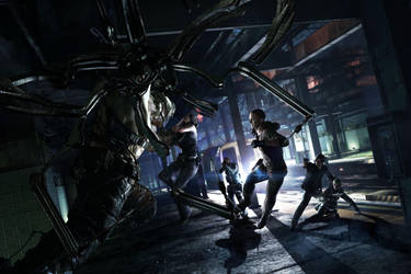resident evil 6 DLC by heatheryingNL