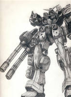 Gundam Heavyarms by ZombieLaJuice