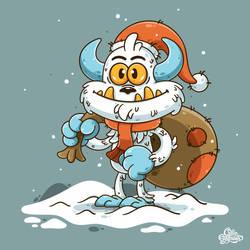 Christmas Yeti by Lushkinz