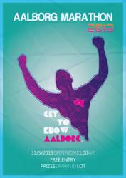 Aalborg Marathon 2013 Poster by TomStal