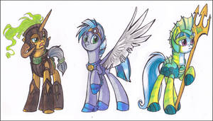 Three Guards - LONG DESCRIPTION! by OfficerPony