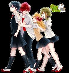Render: Gekkan Shoujo Nozaki-kun by YaelRukia