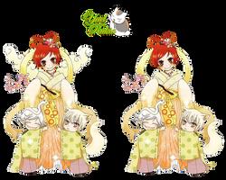 Render-Nanami-Tomoe-Mizuki by YaelRukia