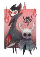Hollow Knight and Grimm by lucascocoo