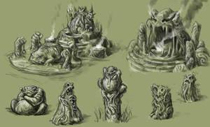 Vodyanoi statues by vidagr