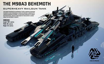 M98A3 Behemoth Superheavy Railgun Tank (UPDATED) by Duskie-06