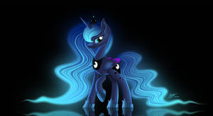 Princess Luna (Commission) by Duskie-06
