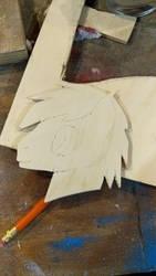 My oc Artsy made from wood by ArtsyFilmer