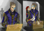 Human Garrus is in the middle of some calibrations by nurbikee