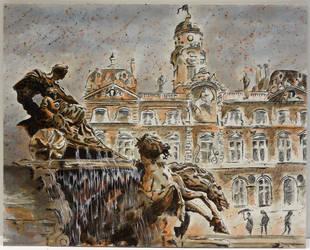 Place-des-terreaux-Lyon-France by Polart-bear