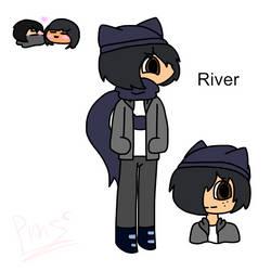 River | Zane x aphmau by princessmoonstone