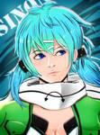 Asada Shino (Sinon) - Gun Gale Online by guswindo
